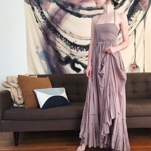 Free People Extratropical Maxi open back dress